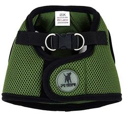 The Worthy Dog Sidekick Harness for Dogs, X-Small, Green
