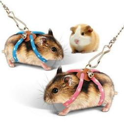 Small Animal Hamster Mouse Squirrel Glider Leash Traction Ro