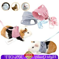 Small Animal Harness Leash Collar Soft Squirrel Cat Rabbit G