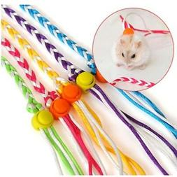 Small Animal Leashes Rope Harness Leash Adjustable Hamster M