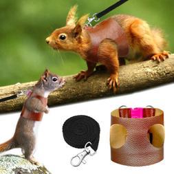 Small Animals Mesh Cotton Collars Cat Hamster PU Harness Rab