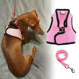 Small Dog Harness Leash  Best Adjustable Soft Mesh Cute for