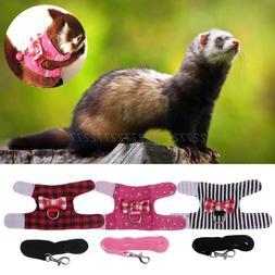 Small Pet <font><b>Harness</b></font> Vest Leash Set Ferret