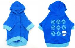 smalllee_lucky_store Skull Snowflakes Hooded Shirt for Small