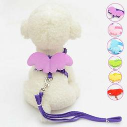 Smart Pet Dog Cat Leashes Collars Set Puppy Leads Angel Wing