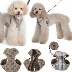 Floral Breathable Pet Dog Vest Harness Leather Harnesses Set