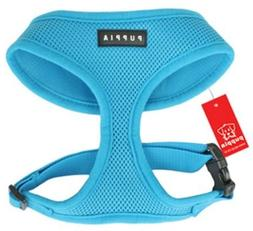 Puppia Soft Dog Harness  Aqua Blue Medium