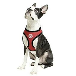 Gooby Soft Mesh Dog Harness For Small Dog, Red, Medium Size