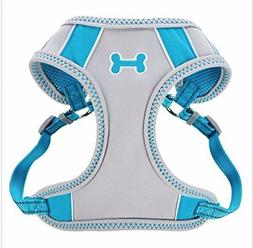 Top Paw Sporty Comfort Adjustable Dog Harness, BLUE LARGE