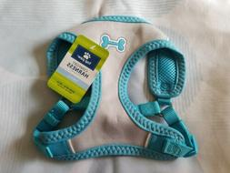 Top Paw Sporty Comfort Adjustable Harness Small Blue Gray Bo