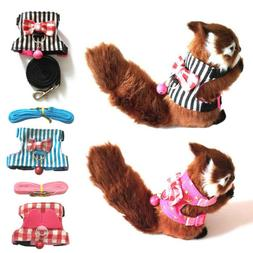 Squirrel Adjustable Hamster Lead Collar With Leash Small Ani