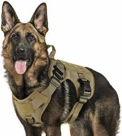 Rabbitgoo Tactical Dog Harness with Handle Nopull Large Mili