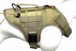 ALBCORP Tactical Dog Vest Harness – Military K9 Dog Traini