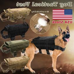 Tactical Police K9 Military Dog Vest Harness Service Canine