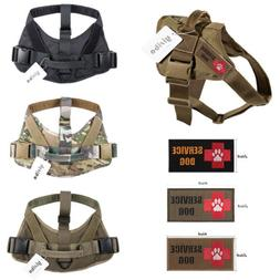 Tactical Service Dog Harness Military Patrol K9  Vest W/Hand