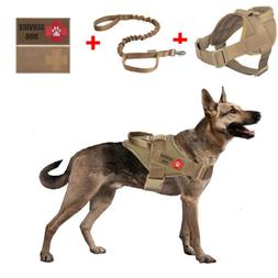 Tactical Service Military K9 Working Patrol Dog Vest Harness