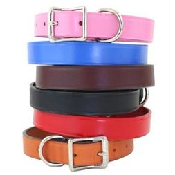 """Town Dog Collar Color: Burgundy, Size: 1"""" x 20"""""""