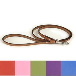 """Auburn Leathercrafters Town Dog Leash green-color 48"""" L x 1/"""