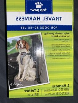 Top Paw Travel Dog Harness For Dogs Size Medium 20 to 55 Lbs