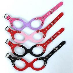US Pet Dog Harness Glasses Shape Soft  Adjustable for Small