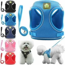 US Pet Puppy Harness Breathable Mesh And Leash Set Vest Ches