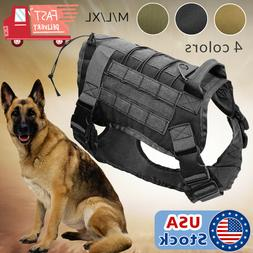 US Police K9 Tactical Training Dog Harness Military Adjustab