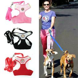 pets dog puppy solid color mesh harness