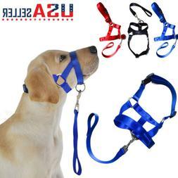 USA Dog Pet Head Collar Gentle Halter Leash Leader No Pull H