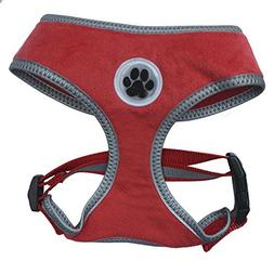 Lanyar Warm Red Padded Soft Dog Harness Safe Harness Winter