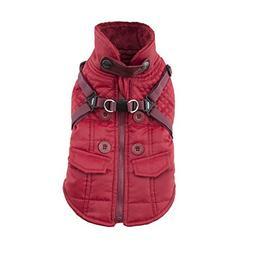 Puppia Wilkes Winter Fleece Vest, X-Large, Wine