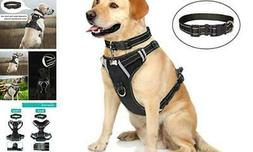 WINSEE Dog Harness No Pull, Pet Harnesses with Dog Collar, L