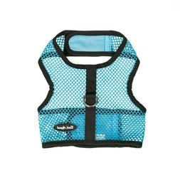 Bark Appeal Wrap n Go Netted Dog Step In Harness Turquoise S