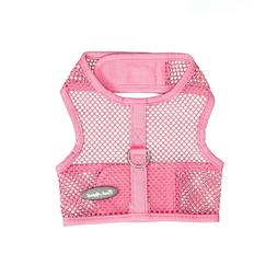 Bark Appeal Wrap n Go Netted Dog Step In Harness Pink Sizes
